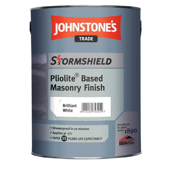 Stormshield Pliolite Based Masonry paint from Johnstone's Trade Paints