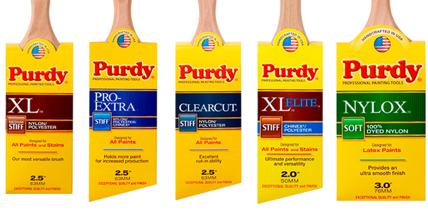 Purdy brushes from Turner & Wood Decorators Merchant Leeds