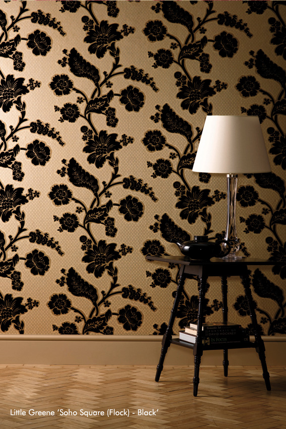 Soho Square (Flock) - Black