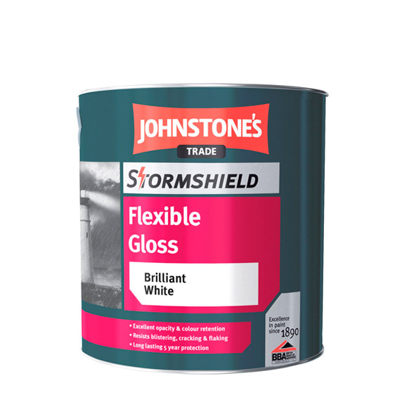 Stormshield Flexible Gloss Paint from Johnstone's Trade Paints